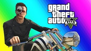 GTA 5 Online Funny Moments - The Terminator & FIB Slasher!