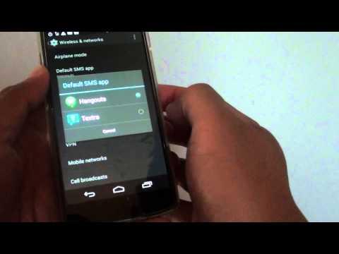 Google Nexus 5: How to Set the Default SMS App