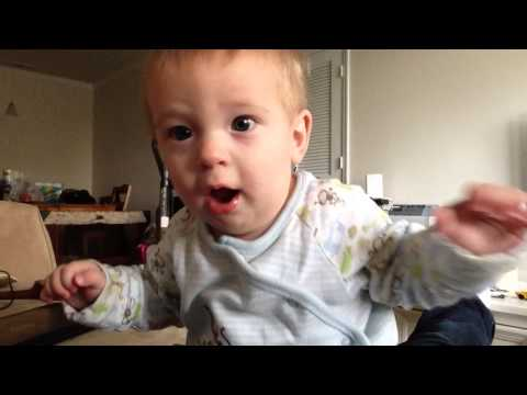 Baby Jensen Gets Excited When He Sees Himself on Camera!