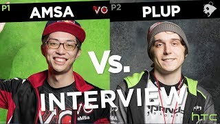 """Yep, I'm losing, it's over..."" Plup vs. Amsa Interview at Genesis 6 | HTC Esports"