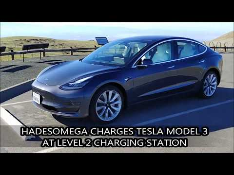 HadesOmega Charges Tesla Model 3 at Level 2 Charging Station