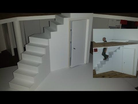 How to make Doll Stairs with Storage