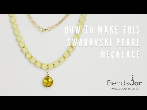 How To Make This Swarovski Pearl Necklace!