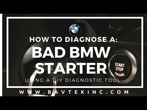How to Diagnose a Bad BMW Starter with a Diagnostic Scanner