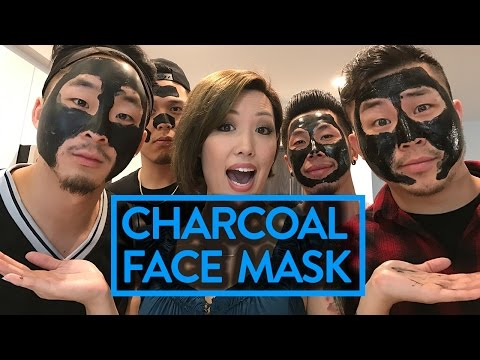 GUYS TRY CHARCOAL FACE MASK FOR THE FIRST TIME