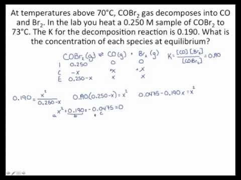 Solving Equilibrium Problems with the Quadratic Equation