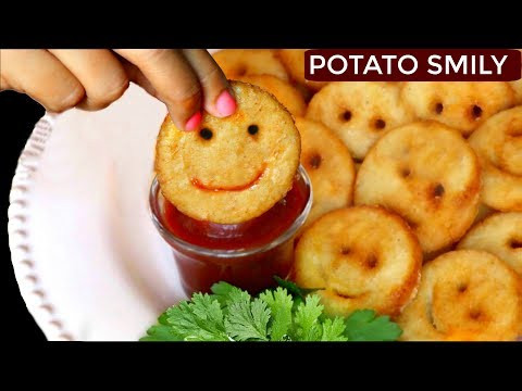 How To Make Potato Smiley | Easy Snacks For Kids Lunch | CookWithNisha