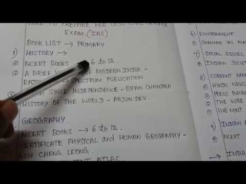 HOW TO PREPARE FOR UPSC CIVIL SERVICE  ( IAS ) EXAM 2018 / BOOK LIST / VERY IMPORTANT / MUST WATCH /