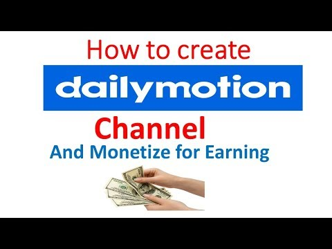 How to create dailymotion channel complete process in  english tutorial