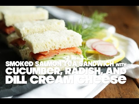 Smoked Salmon Tea Sandwich with Dill Cream Cheese