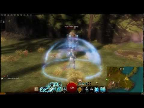 Guild Wars 2 Beta: Guardian Wall of Reflection and Sanctuary Skills (Utilities)