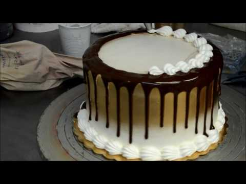 How to make a Gold and Chocolate Basic Birthday Cake