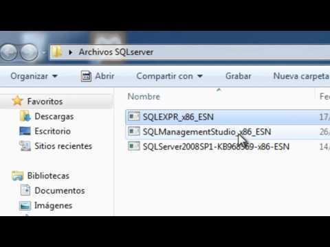 Como Instalar SQLserver Express y SQLManagement Studio en Window 7