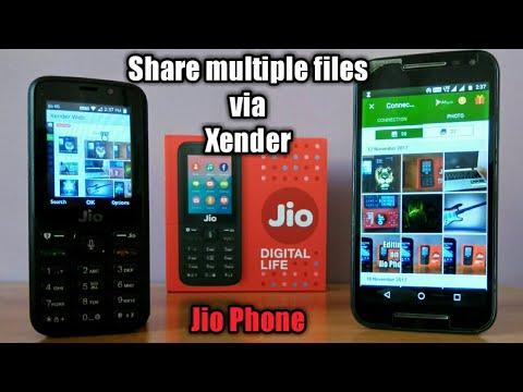 Jio Phone : simple way to share files via Xender✓
