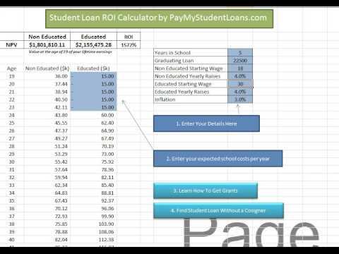 Student Loan ROI Calculator