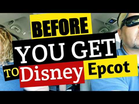 BEFORE YOU EVEN GET INTO DISNEY EPCOT