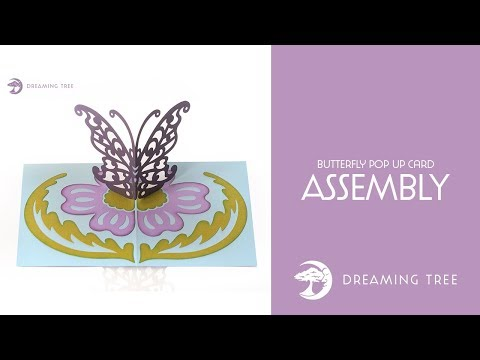 SVG File - Butterfly Pop Up Card - Assembly Tutorial