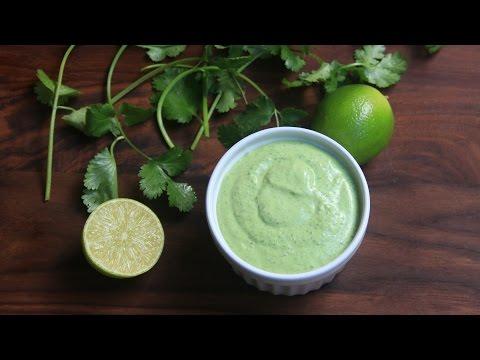 Cilantro mayonnaise or cilantro aioli