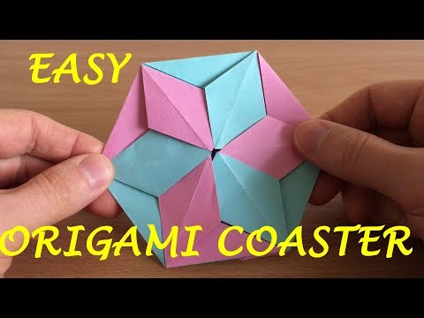 How to Make an Origami Coaster - Amazing DIY Coaster