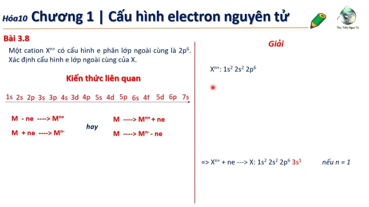 ✔ Hóa10| Viết nhanh cấu hình e từ cấu hình Cation Xn  cho trước (Chương 2 hóa 10)