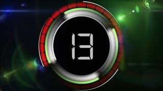 1 min timer countdown ( v 458 ) news theme clock with sound effects