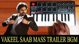 Vakeel Saab Mass Trailer Bgm By Raj Bharath | Pawan Kalyan | Thaman S