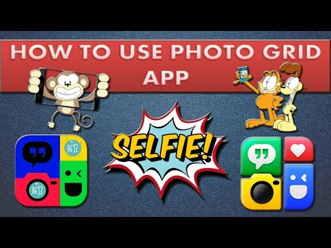 How to make collage & edit selfies on smartphone using photo grid.