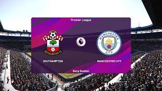 PES 2020 | Southampton vs Manchester City - Premier League | 05/07/2020 | 1080p 60FPS