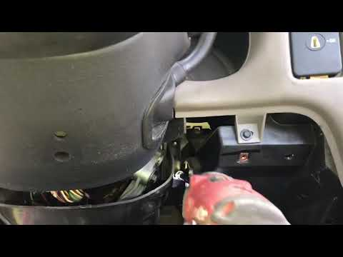 Remove and Replacing S10 Chevy steering column part 1