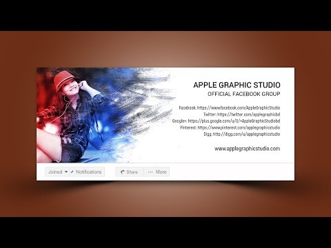 Facebook Group Cover Photo Design & Size 2018 - Photoshop Tutorial
