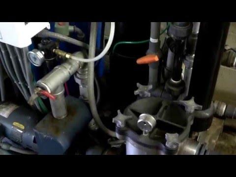 Pump priming problem found.  Suction leak