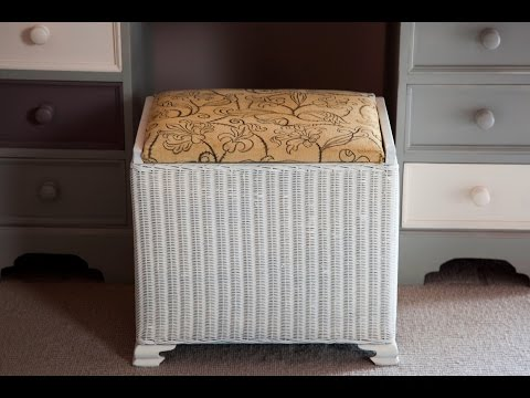 Makeover an old wicker hamper with PlastiKote
