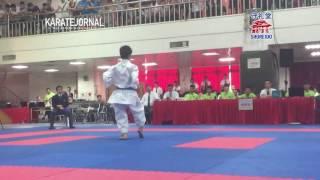 2016EAKF cadet male kata final Fong man hou (MAC) vs Aoi funada (JPN)
