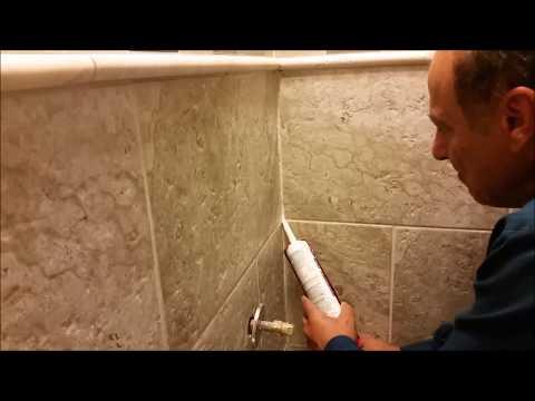 How To Caulk An Inside Corner Between Wall Tiles In Bathroom And Shower