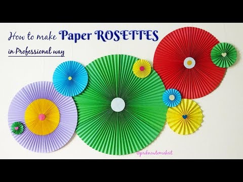 Paper rosettes , How to Make Paper Rosettes , diy wall hanging, party wall decor, room decor