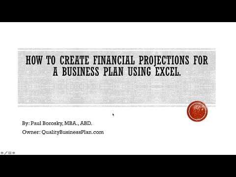 How to make financial projections for a business plan using Excel