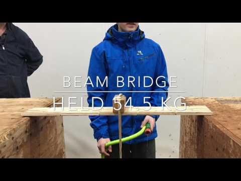 Popsicle stick bridges breaking