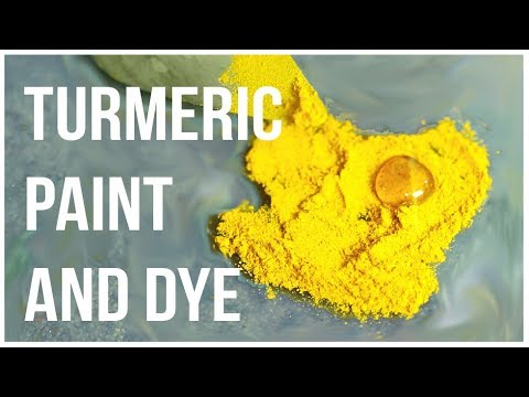 Making Paint and Dye out of Turmeric