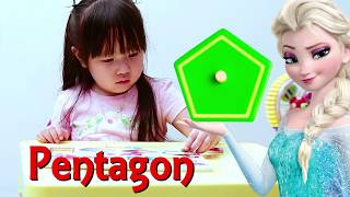 Learning Shapes with Elsa Fun Educational videos - For kids Toddlers Kindergarten Children