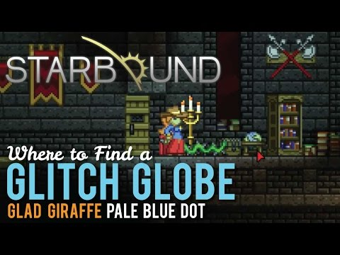 Where to find a Glitch Globe in Starbound, Pale Blue Dot
