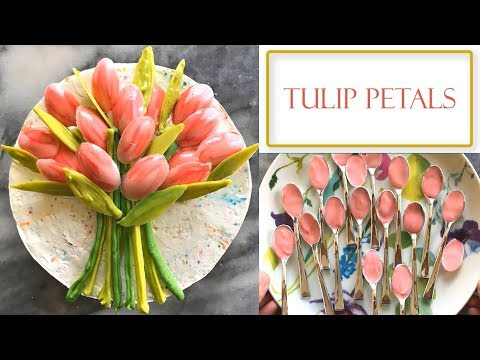 How to Make Chocolate Tulip Decorations   Simple and Easy
