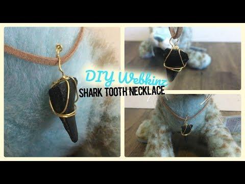 DIY Webkinz Shark Tooth Necklace ♡