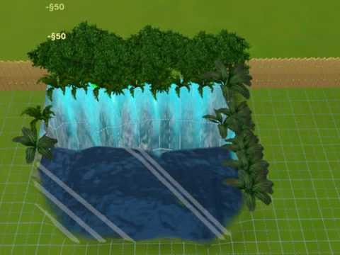 how to make a waterfall on sims 3
