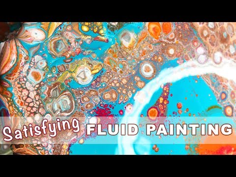 Fluid Pouring Cell Painting - Watch Me Paint