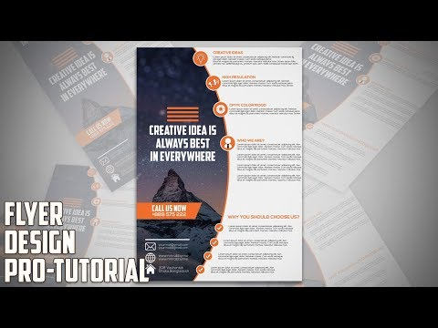 How To Design Professional Business Flyer In Adobe Photoshop Cc