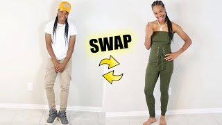 GIRLY CLOTHING SWAP CHALLENGE!!!