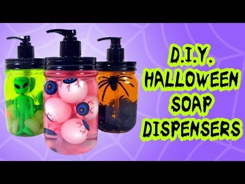 DIY Halloween Soap Dispensers - Easy Halloween Home Decorations