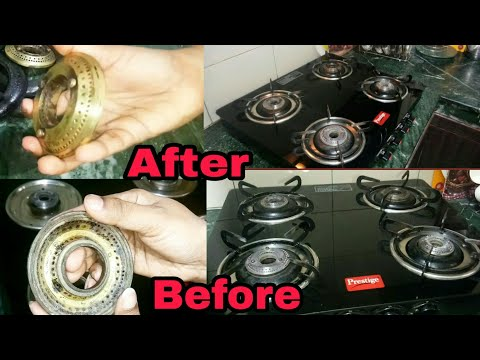 How to clean Gas Stove | Gas Burners Cleaning | DIY- Kitchen Tips and Tricks