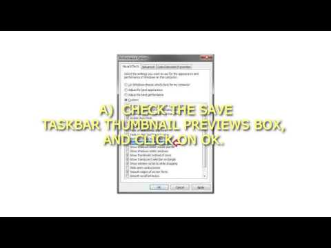 How to Enable or Disable Save Taskbar Thumbnail Previews in Windows 7 and Windows 8