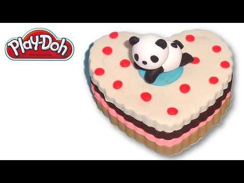 Play-Doh Cake with Panda Topper